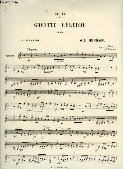GAVOTTE CELEBRE PAR P. MARTINI - N°14 POUR VIOLON.