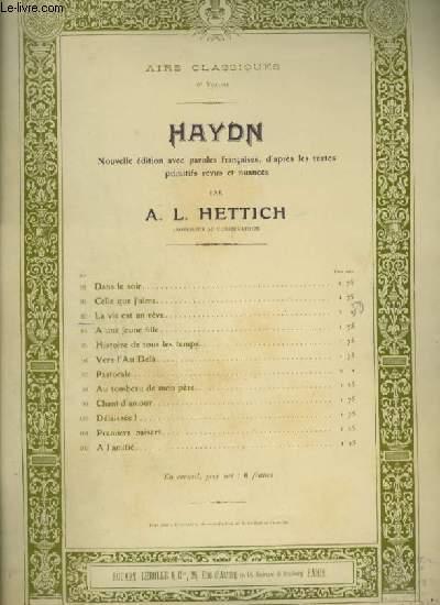 HAYDN - N°93 : LA VIE EST UN REVE - POUR PIANO ET CHANT.