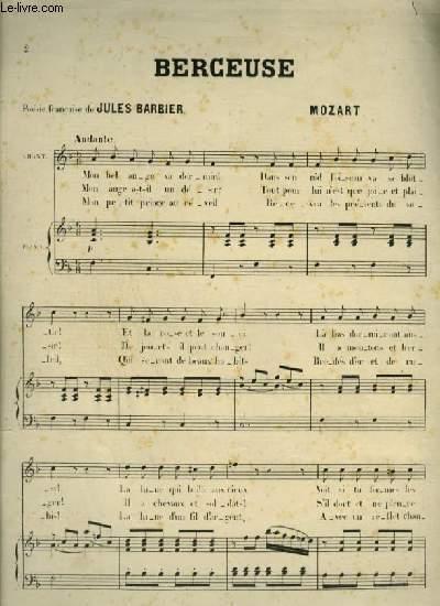 BERCEUSE - POUR PIANO ET CHANT AVEC PAROLES.
