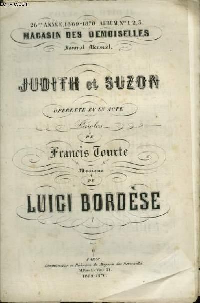 JUDITH ET SUZON - MAGASIN DES DEMOISELLES N°1, 2, 3 - 26° ANNEE 1869-1870.