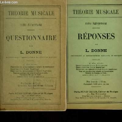 QUESTIONNAIRE + REPONSES.
