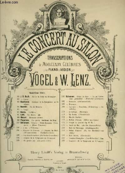 ERINNERUNG / SOUVENIR / RECOLLECTIONS - POUR PIANO ET VIOLON OU VIOLONCELLE OU FLUTE.