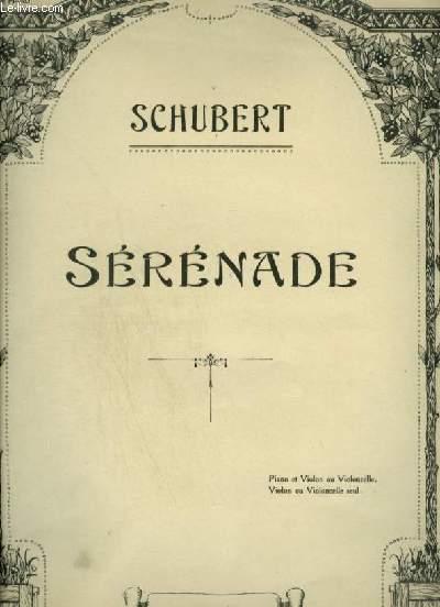 SERENADE - POUR PIANO + VIOLON OU VIOLONCELLE.