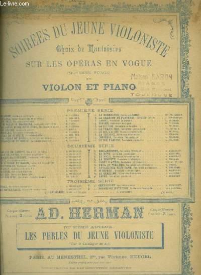 SOIREES DU JEUNE VIOLONISTE - CHEVALERIE RUSTIQUE POUR PIANO ET VIOLON.