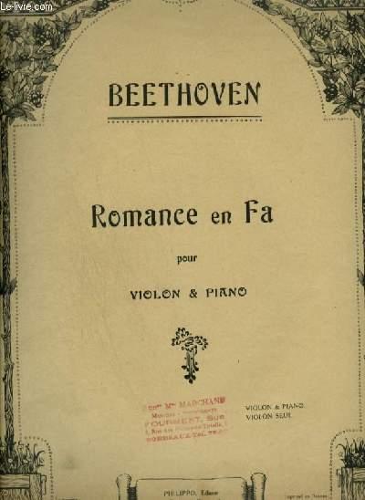 ROMANCE EN FA - OP.50 POUR PIANO ET VIOLON.