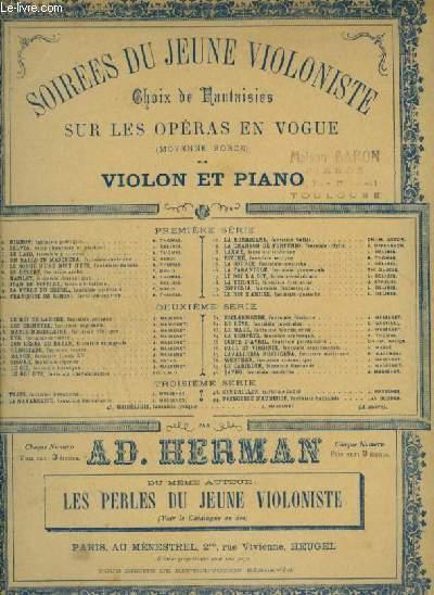 SOIREES DU JEUNE VIOLONISTE - N°2 : SYLVIA DE LEO DELIBES - POUR PIANO ET VIOLON.