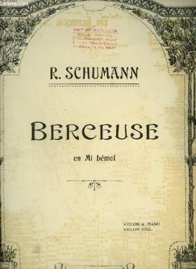 BERCEUSE - EN MI BEMOL - POUR PIANO ET VIOLON.
