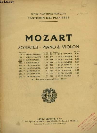 SONATES POUR PIANO ET VIOLON : 3° SONATE.
