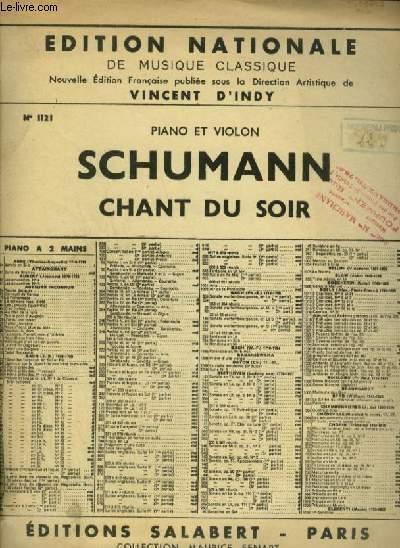 CHANT DU SOIR - OP.85 - N°12 - POUR PIANO + VIOLON OU VIOLONCELLE.