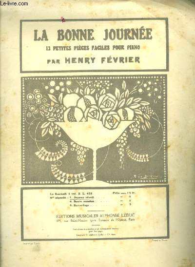 LA BONNE JOURNEE - N°1 : JOYEUX REVEIL - POUR PIANO.