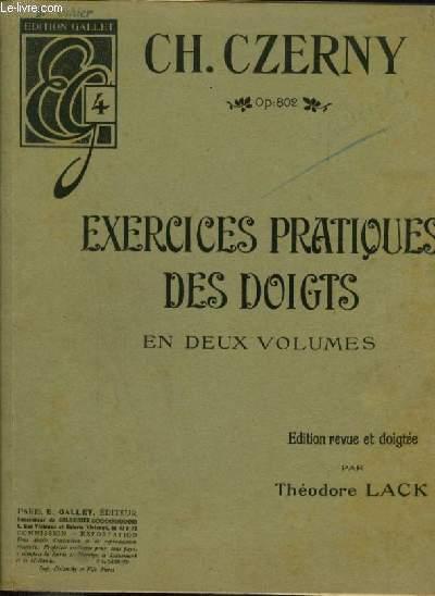 EXERCICES PRATIQUES DES DOIGTS - EN 2 VOLUMES : LIVRE 1.