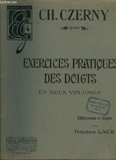 EXERCICES PRATIQUES POUR LES DOIGTS - EN 2 VOLUMES - LIVRE 2 N°4 : DES EXERCICES EN TIERCES ET A DOUBLES NOTES - OP.802.