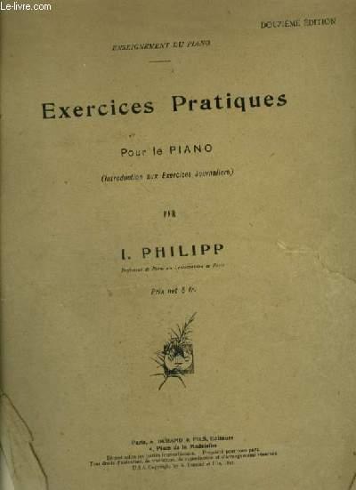 EXERCICES PRATIQUES - POUR LE PIANO.