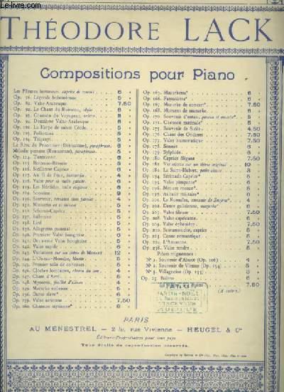 CHANT D'AVRIL - POUR PIANO - OP.147.
