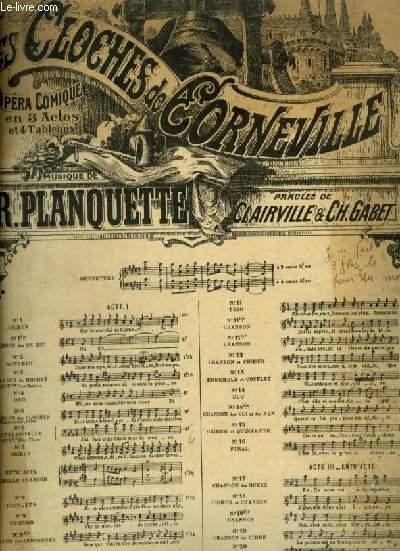 LES CLOCHES DE CORNEVILLE - N°6 : RONDEAU VALSE POUR PIANO ET CHANT (HENRI) AVEC PAROLES.