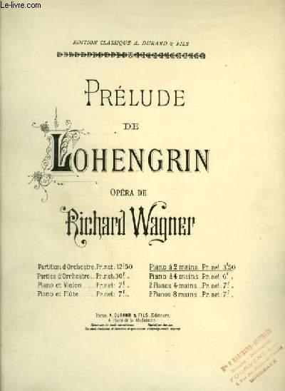 PRELUDE DE LOHENGRIN - POUR PIANO A 2 MAINS.