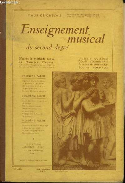 ENSEIGNEMENT MUSICAL DU SECOND DEGRE.