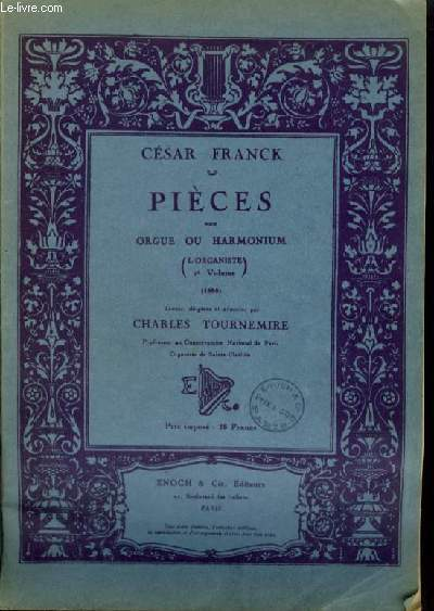 PIECES POUR ORGUE OU HARMONIUM - L'ORGANISTE 2° VOLUME (1855).