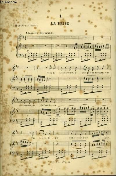 LA BRISE + LA SPLENDEUR VIDE + LA SOLITAIRE + SABRE EN MAIN + AU CIMETIERE + TOURNOIEMENT - POUR PIANO ET CHANT AVEC PAROLES.
