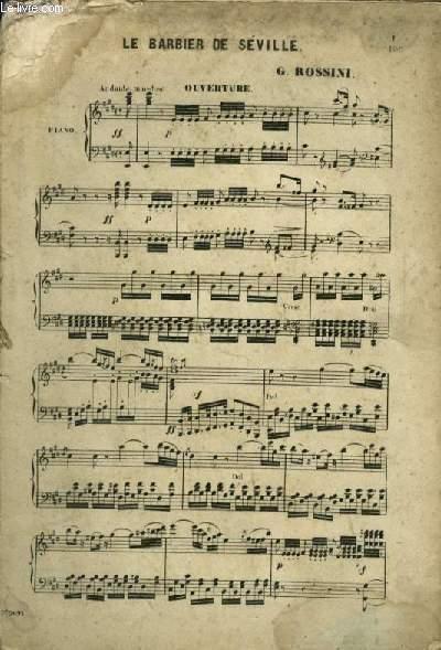 LE BARBIER DE SEVILLE - POUR PIANO.