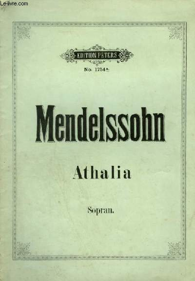 ATHALIA - SOPRAN - OP.74.