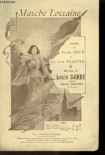 MARCHE LORRAINE - POUR CHANT AVEC PAROLES.