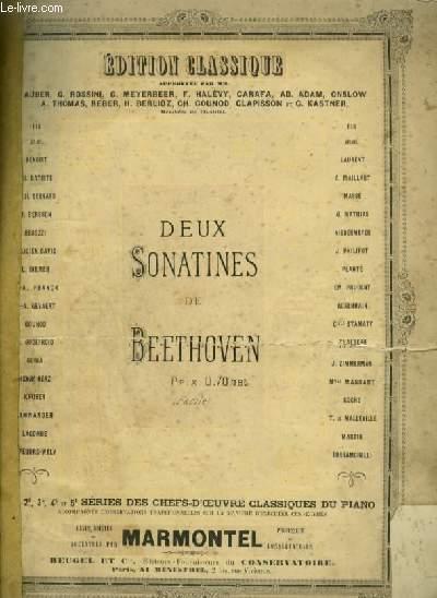 DEUX SONATINES - POUR PIANO.