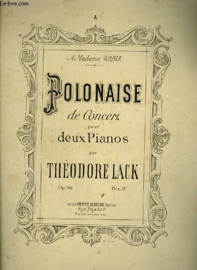POLONAISE DE CONCERT - POUR 2 PIANOS - OP.66.