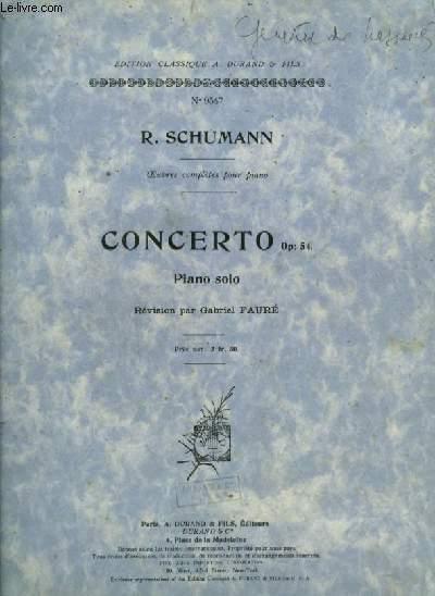 CONCERTO - OP.54 - POUR PIANO SOLO.