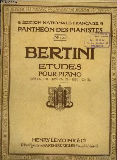 ETUDES POUR PIANO - N°1089 - OP.29 : 25 ETUDES INTRODUCTION A CELLES DE CRAMER.