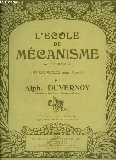 L'ECOLE DU MECANISME - 100 EXERCICES EN 3° PARTIES : 2° PARTIE : 37 A 66.