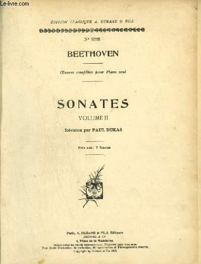 SONATES - VOLUME 2 : Op. 31, n°1 à 3, Op. 49, n°1 et 2, Op. 53, Op. 54, Op. 57, Op. 78, Op. 79, Op. 81, Op. 90, Op. 101, Op. 106, Op. 109, Op. 110, Op. 111.