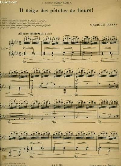 IL NEIGE DES PETALES DE FLEURS ! - POUR PIANO.