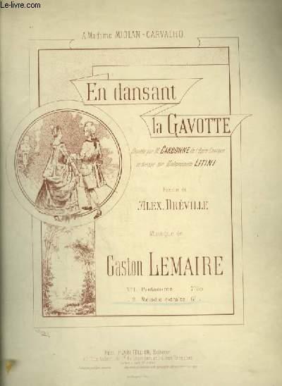EN DANSANT LA GAVOTTE - N°2 : MELODIE POUR PIANO ET CHANT AVEC PAROLES.