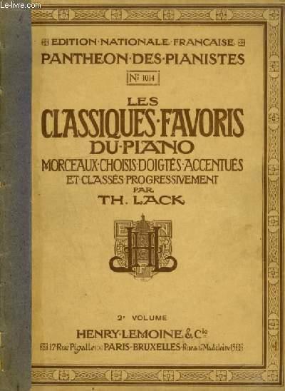 LES CLASSIQUES FAVORIS DU PIANO - VOLUME 2 : P.1014.