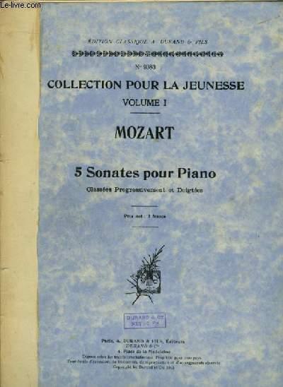 5 SONATES POUR PIANO - VOLUME 1 - CLASSEES PROGRESSIVEMENT ET DOIGTEES.