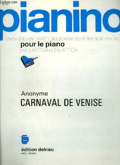 PIANINO N°33 : CARNAVAL DE VENISE.
