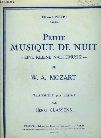 PETITE MUSIQUE DE NUIT / EIN KLEINE NACHTMUSIK - POUR PIANO.