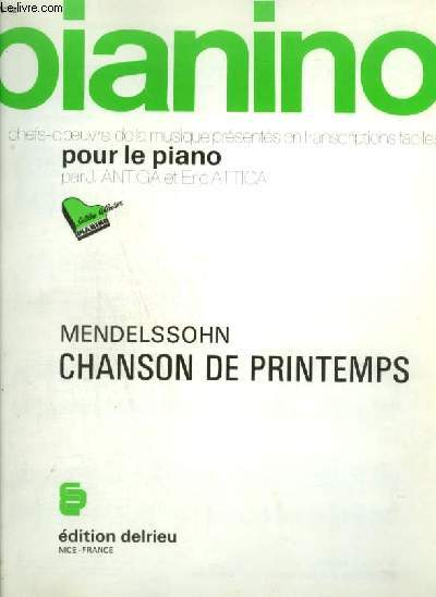 PIANINO N°12 : CHANSON DE PRINTEMPS.