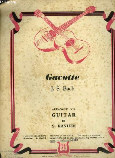 GAVOTTE - ARRANGED FOR GUITAR.