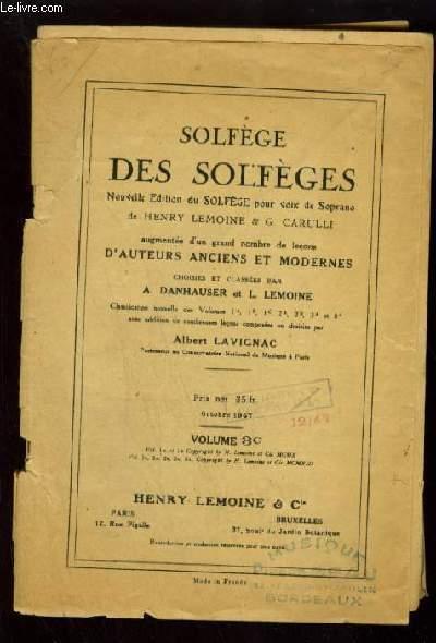 SOLFEGE DES SOLFEGES - VOLUME 3 C : ETUDE DE LA CLE D'UT 1° LIGNE.