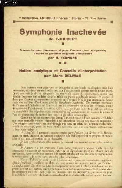 SYMPHONIE INACHEVEE - POUR PIANO.