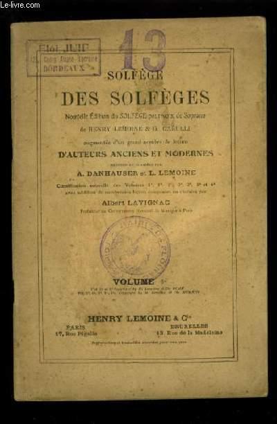 SOLFEGE DES SOLFEGES - VOLUME 6 A : SOLFEGE A 2 VOIX EGALES EN CLE DE SOL.