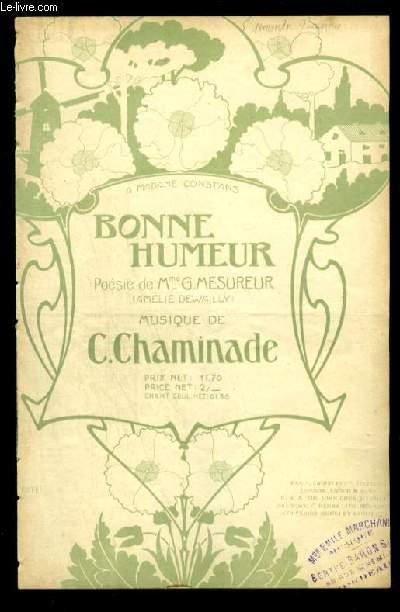 BONNE HUMEUR - POUR CHANT AVEC PAROLES.