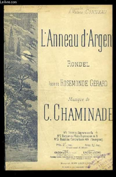 L'ANNEAU D'ARGENT - POUR CHANT AVEC PAROLES.