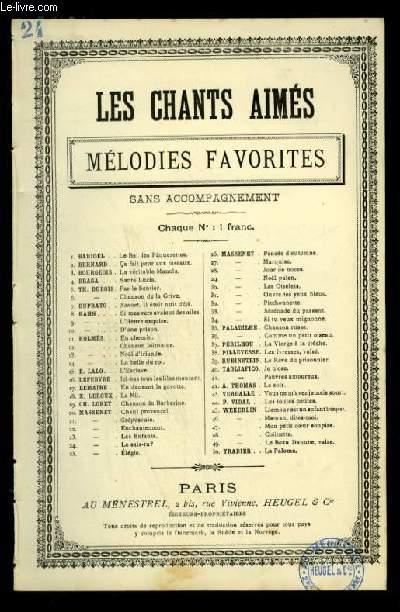LE SAIS-TU ? - LES CHANTS AIMES / MELODIES FAVORITES - N°24 - POUR CHANT AVEC PAROLES.