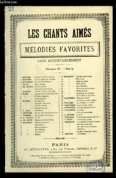 CREPUSCULE - LES CHANTS AIMES / MELODIES FAVORITES - N°21 - POUR CHANT AVEC PAROLES.