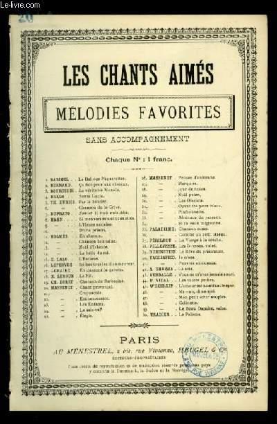 CHANT PROVENCAL - LES CHANTS AIMES / MELODIES FAVORITES - N°20 - POUR CHANT AVEC PAROLES.