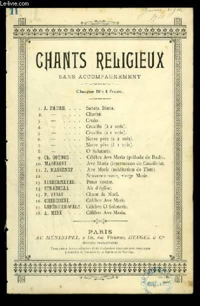 AVE MARIA - CHANTS RELIGIEUX - N°11 - POUR CHANT AVEC PAROLES.
