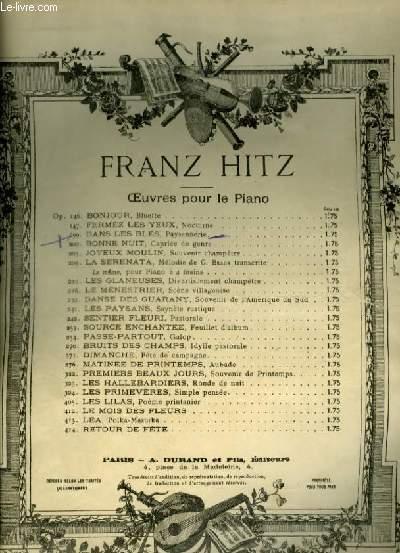 DANS LES BLES - PAYSANNERIE POUR PIANO.